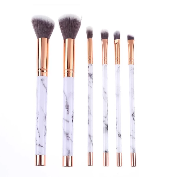Marble Makeup Brush Set (6 Pcs)