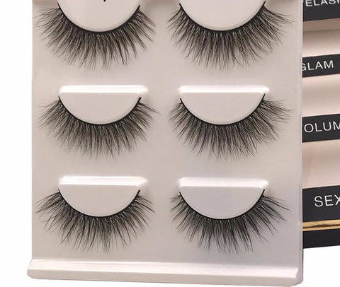 3 Pairs of Mink Lashes