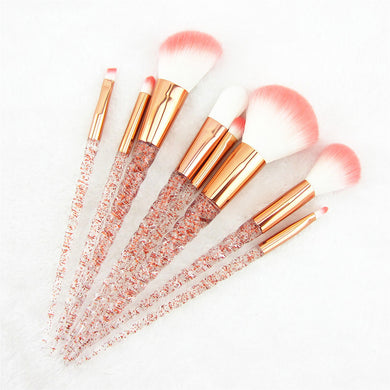 Red Glitter Diamond Unicorn Brushes