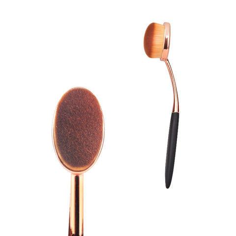 Rose Gold Oval Foundation Makeup Brush