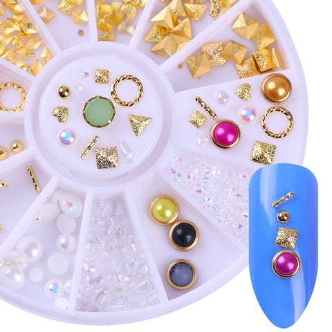 Rose Gold/Gold/ Silver Nail Studs 3D Nail Art Decoration