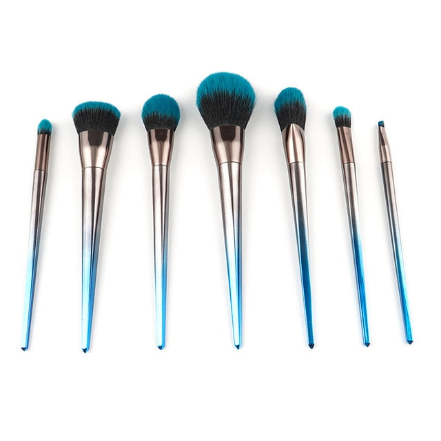 Blue Steel Brush Set