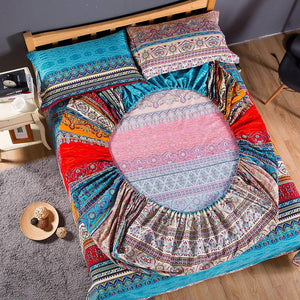 Bohemian Fitted Sheet Mattress and pillowCover