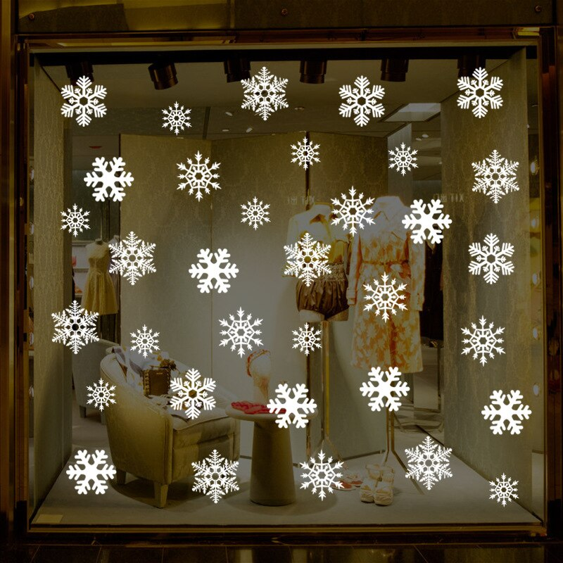 38 pcs/lot snowflake electrostatic Sticker