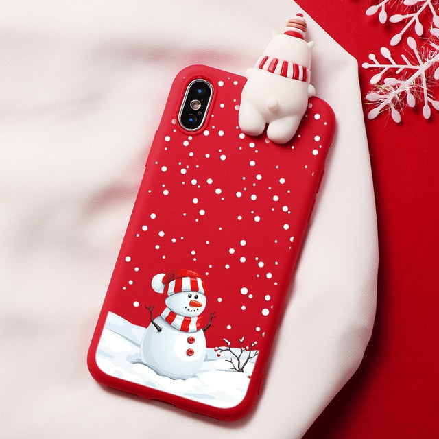 Christmas Cartoon Deer Case For iPhone