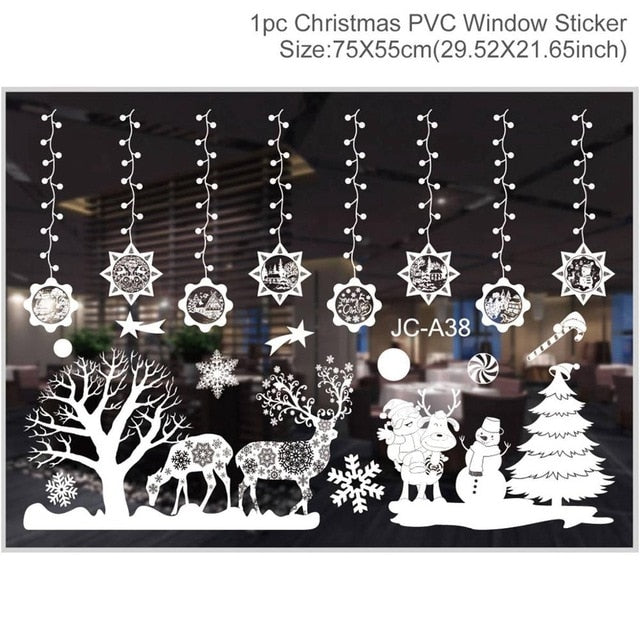 Christmas Decorations Window Sticker