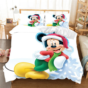 Christmas Mickey Minnie Bedding Set