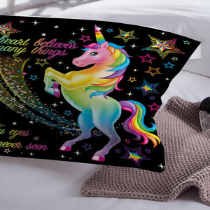 Cartoon Unicorn Bedding Set For Kids