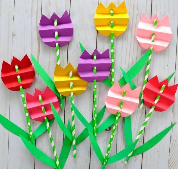 MYO Paper Straw Tulips