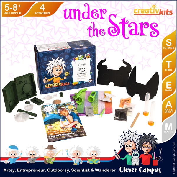 Sep Plus Kit • Age 5 plus • Learn Survival Science, MYO Jewellery, 3in1 Slime & Scratch Jungle Masks