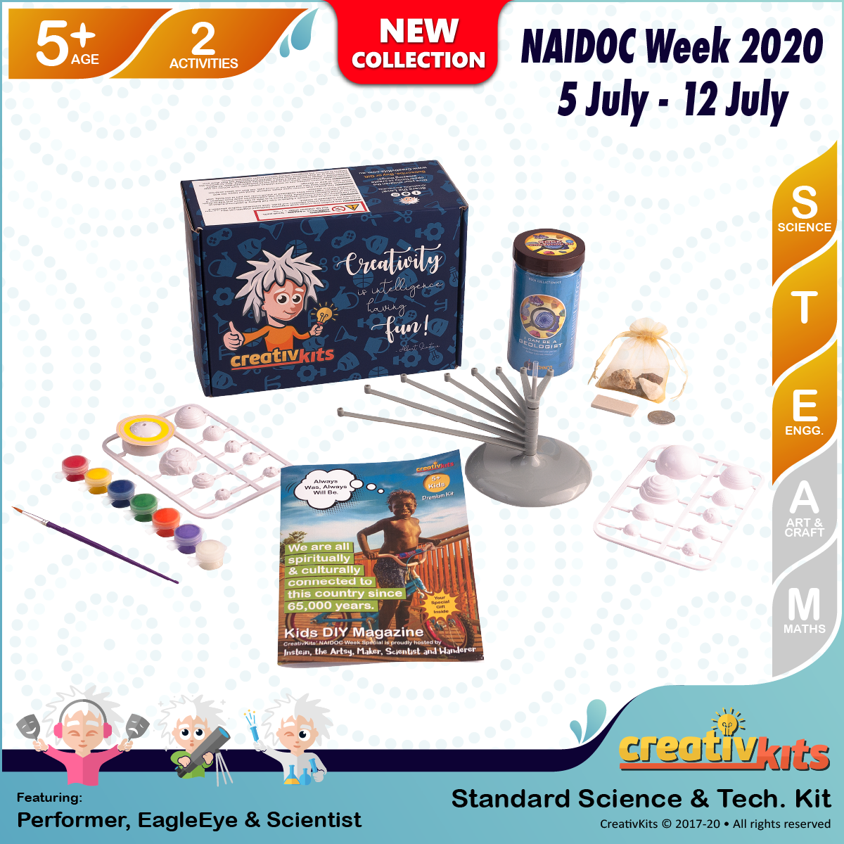 June Standard Science & Tech. Kit • Age 5 plus • MYO Solar System and Be A Geologist