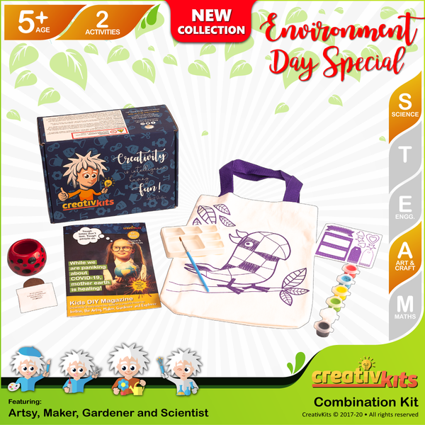 May Standard Combo Kit • Age 5 plus • Design Reusable Bag and Grow Grass Hair
