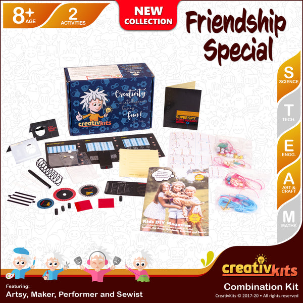 Jul Standard Combo Kit • Age 8 plus • Trick N Spy FRIENDS and MYO Friendship Bracelet