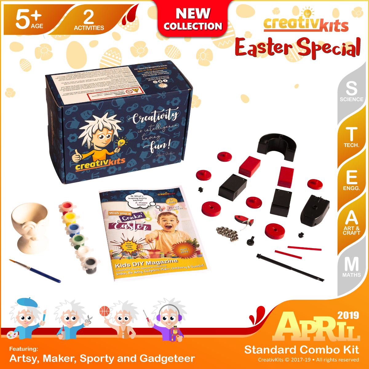 April Standard Combo Kit • Age 5 plus • Magnet Science and Paint own Easter Egg Cup