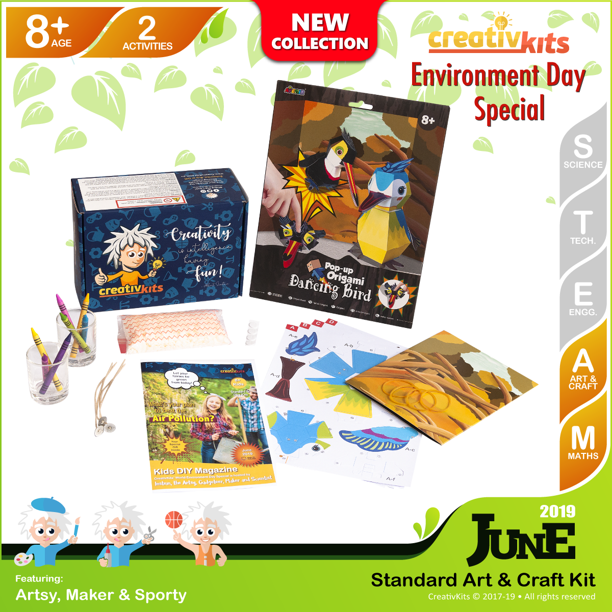 June Standard Art & Craft Kit • Age 8 plus • MYO Wax Candles and Pop Up Origami Art