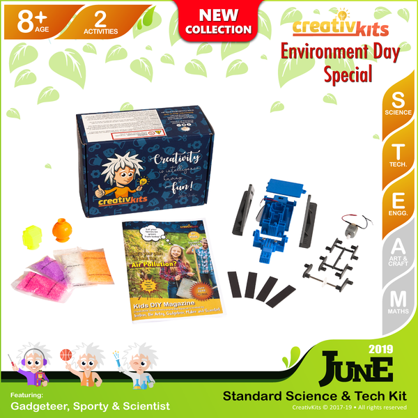 June Standard Science & Tech. Kit • Age 8 plus • Build Your Own Fridge Robot & Bouncy Balls