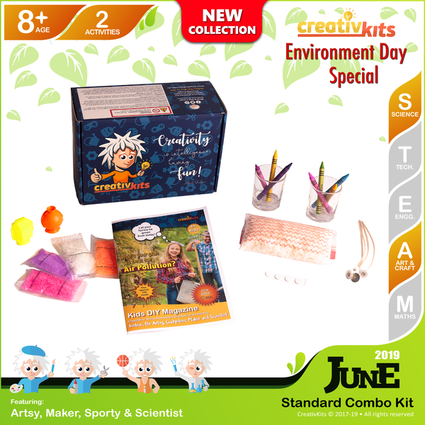 June Standard Combo Kit • Age 8 plus • Handmade Wax Candles and Make Your Own Bouncy Balls