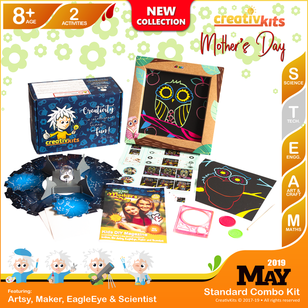 May Standard Combo Kit • Age 8 plus • Make Your Own Night Sky Projector and Spiro Art