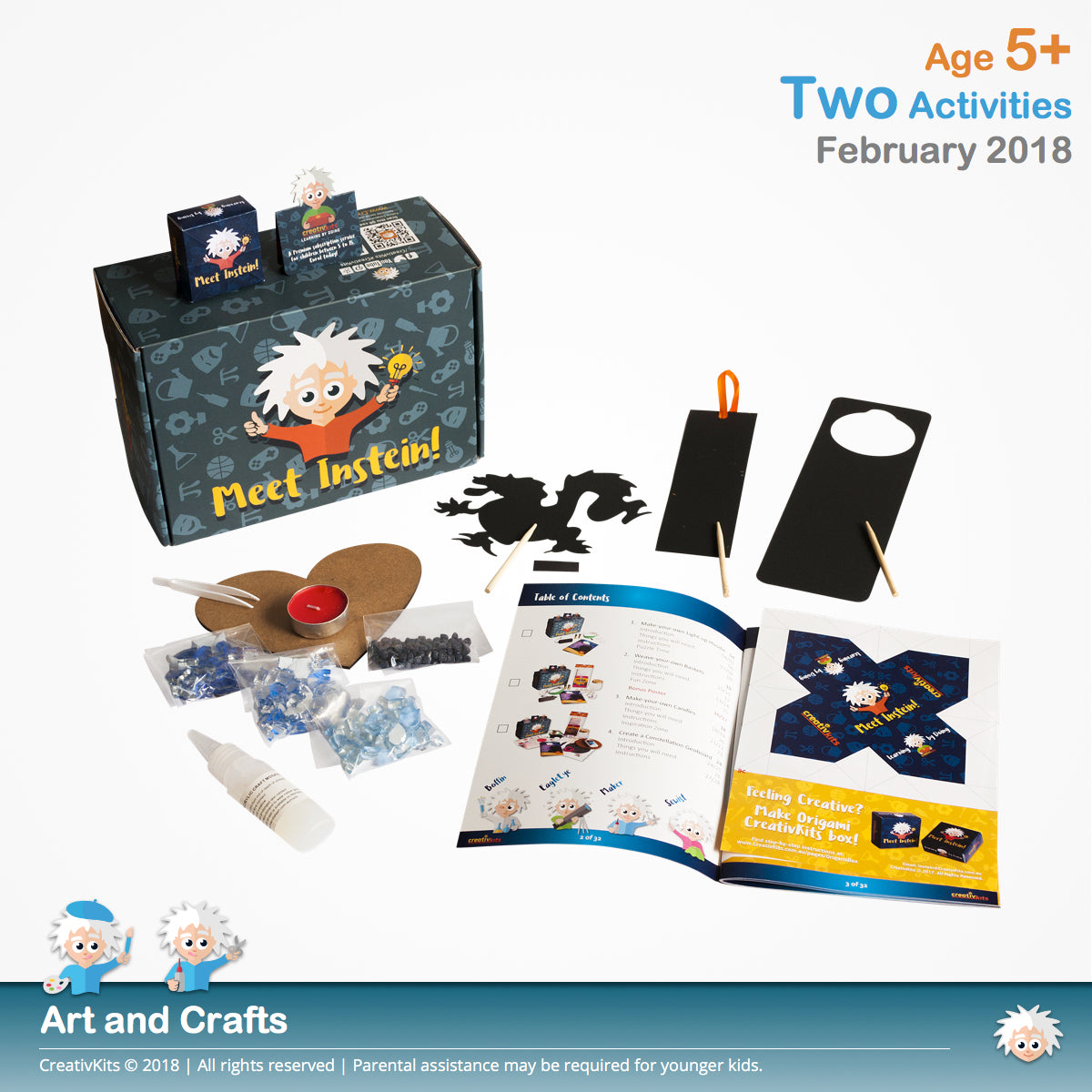 Lovely Mosaic Art and DIY Scratch Goodies | February Standard Art & Craft Kit | Age 5+