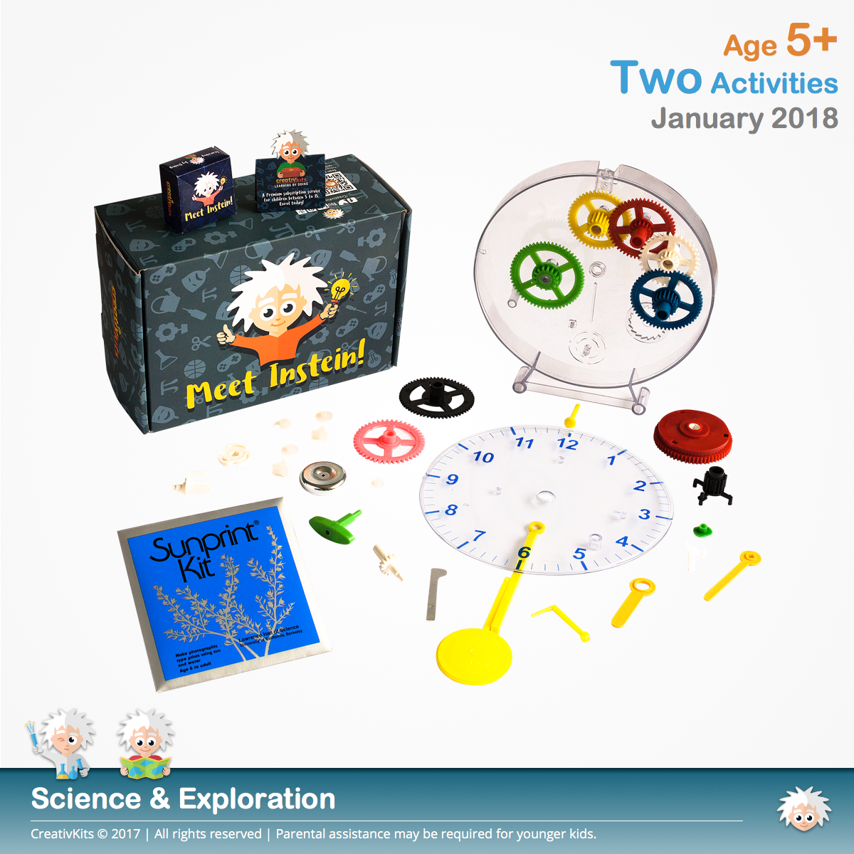 DIY Mechanical Clock and Sun Photography | January Standard Science and Technology Kit | Age 5+