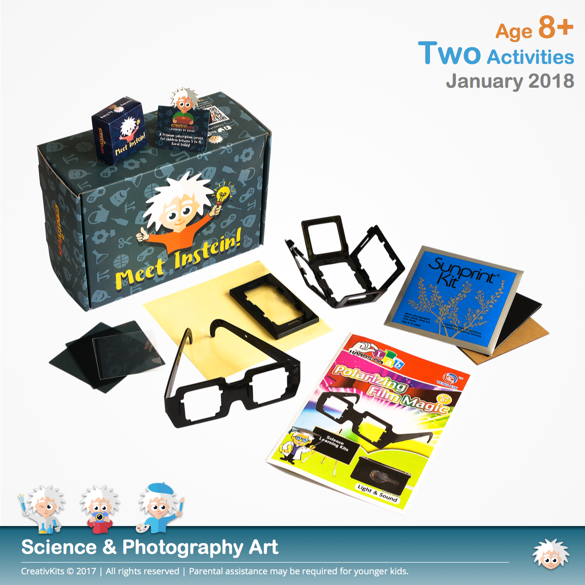 Magic with Polarizing Film & Sun Photography | January Standard Science and Technology Kit | Age 8+
