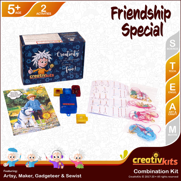 Jul Standard Combo Kit • Age 5 plus • DIY Secret Recorder and MYO Friendship Bracelet