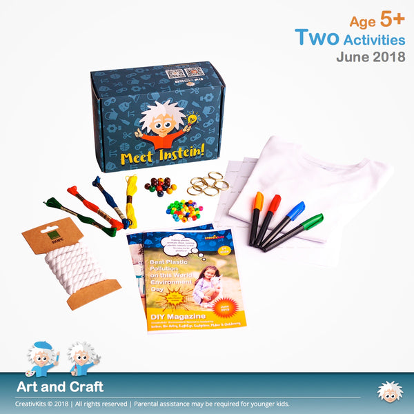 Design T-Shirt Transfer and DIY Rope Tassel Keychains | June Standard Art & Craft Kit | Age 5+