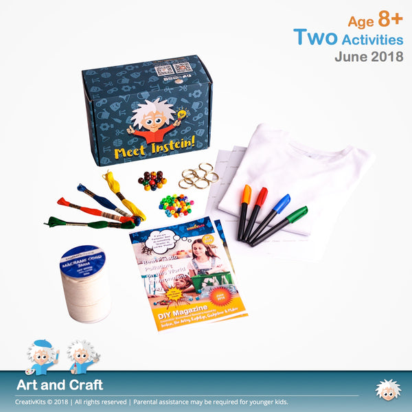 Design Your Own T-Shirt Transfer and Make your own Macramé Keychain | June Standard Art & Craft Kit | Age 8+