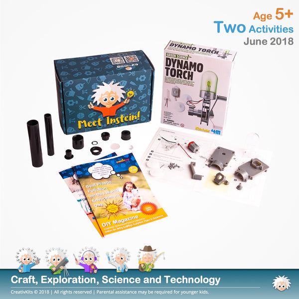 Make Dynamo Torch and Assemble Telescope | June Standard Science and Technology Kit | Age 5+