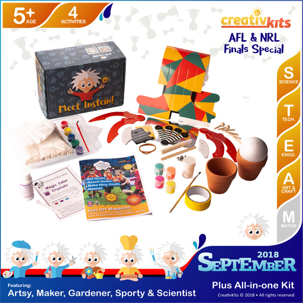 Make Plaster Handprints, Mini Garden, a Grabber and Edible Magic Crystals | Sep. Plus Kit | Age 5+