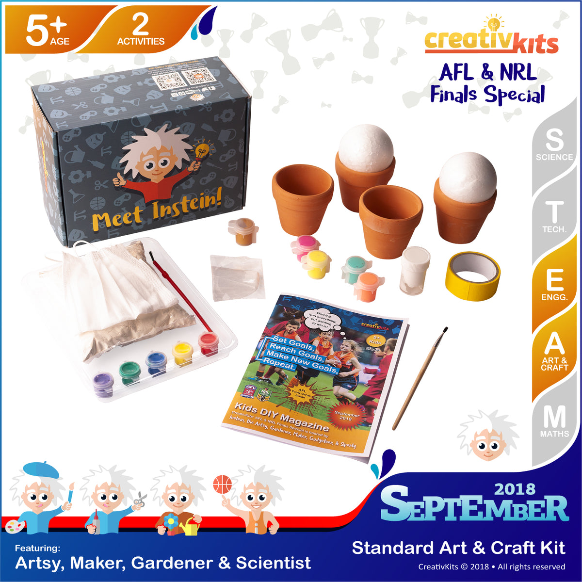 Make Your Own Plaster Handprints and Mini Succulent Garden | Sep. Standard Art & Craft Kit | Age 5+