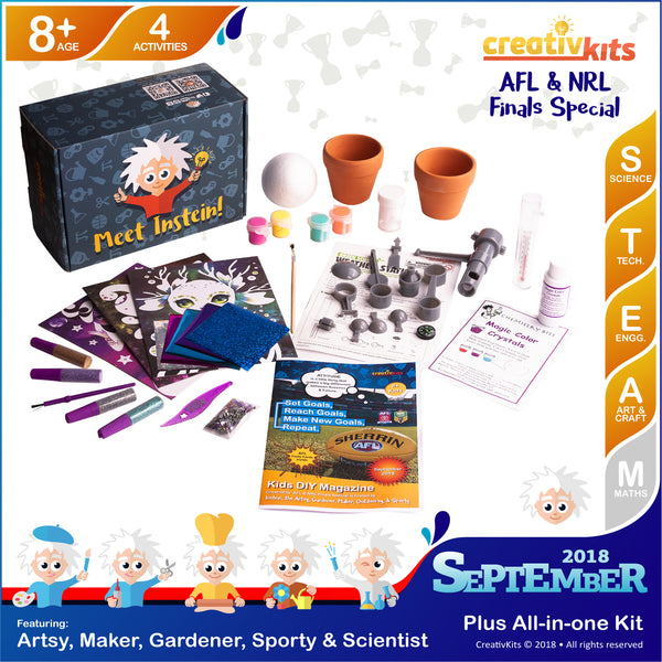Make Glitter Foil Art, Mini garden, Magic Color Crystals & Weather Station | Sep. Plus Kit | Age 8+