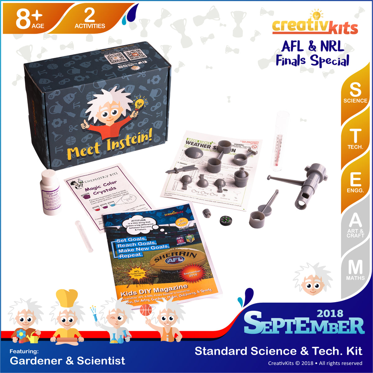 Make Your Own Magic Color Crystals and Weather Station | Sep. Standard Science & Tech. Kit | Age 8+