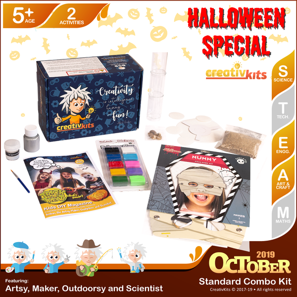 October Standard Combo Kit • Age 5 plus • MYO Drink Coaster and Dracula's Purifier aka Water Filter