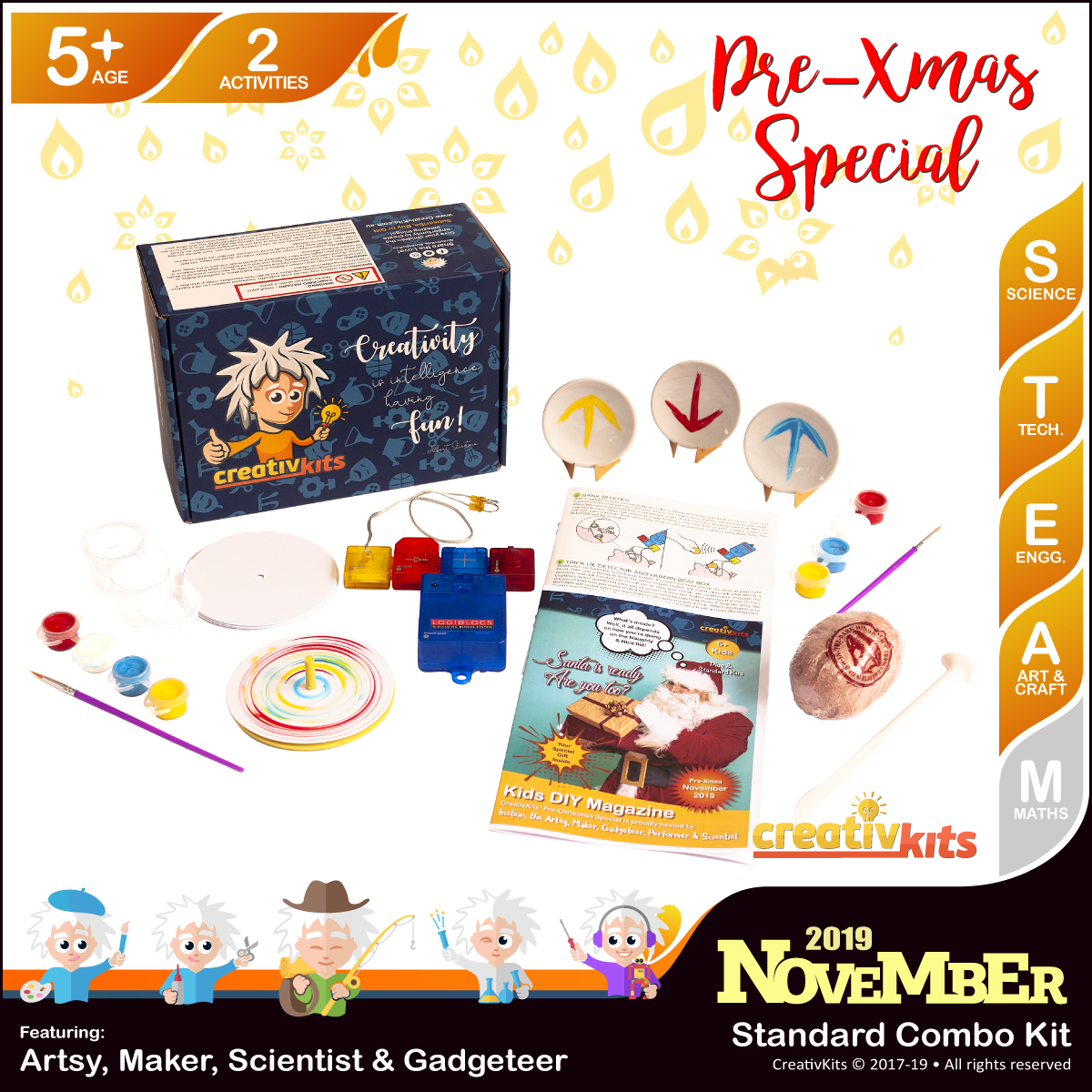 November Standard Combo Kit • Age 5 plus • BYO Smart Circuits and MiniPlates paintings