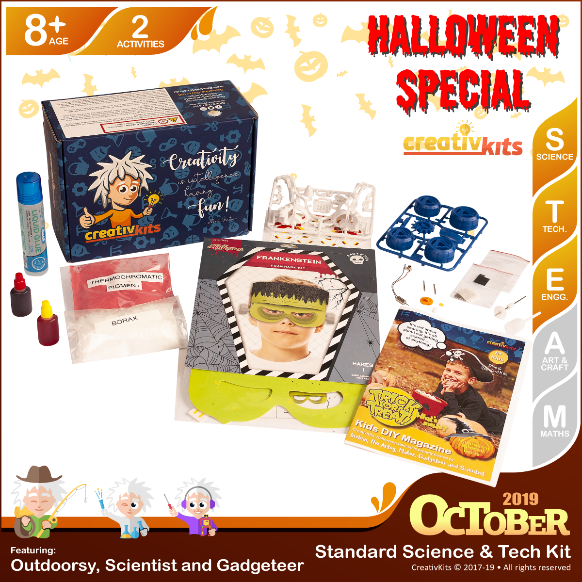 October Standard Science & Tech. Kit • Age 8 plus • BYO Baja Runner & MYO Magical Slime