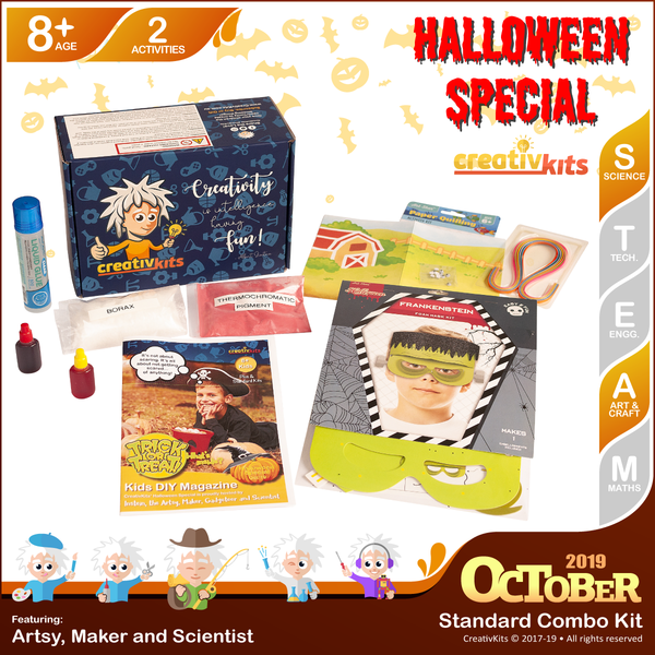 October Standard Combo Kit • Age 8 plus • MYO Magical Slime & MYO Quilling Art