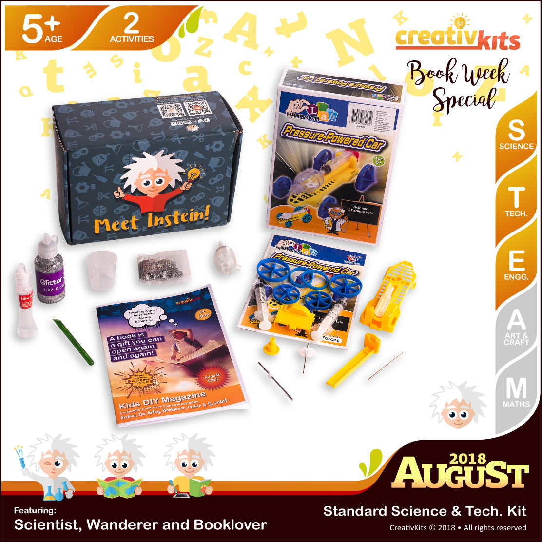 Holographic Slime and Air Pressure Powered Car | August Standard Science & Tech. Kit | Age 5+