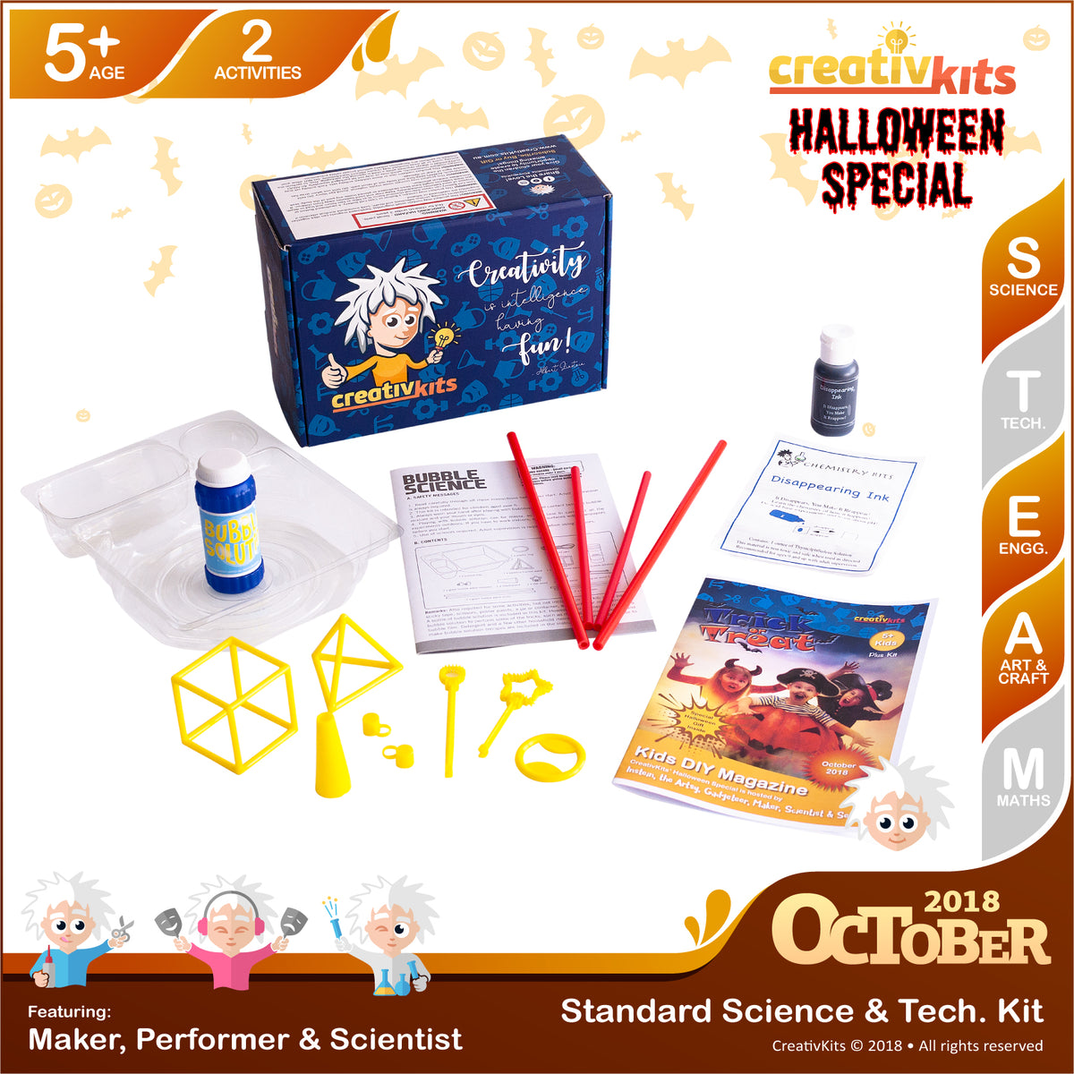 Learn Bubble Science & Spy using Disappearing Ink | October Standard Science & Tech. Kit | Age 5+