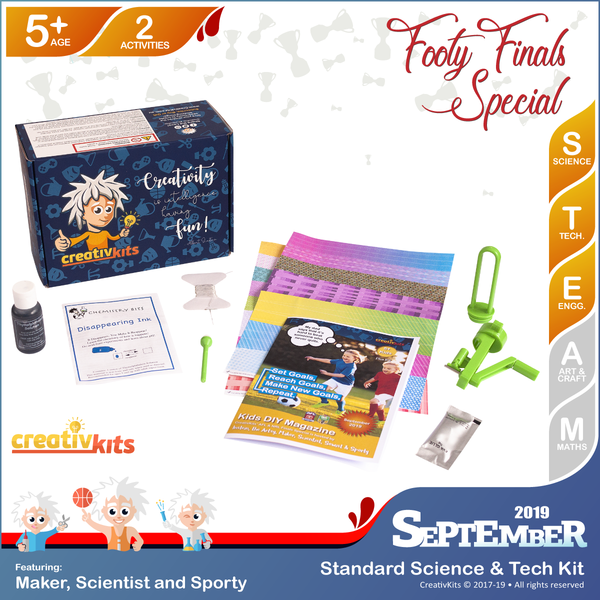 September Standard Science & Tech. Kit • Age 5 plus • MYO Recycled Paper Beads and Disappearing Spy Ink