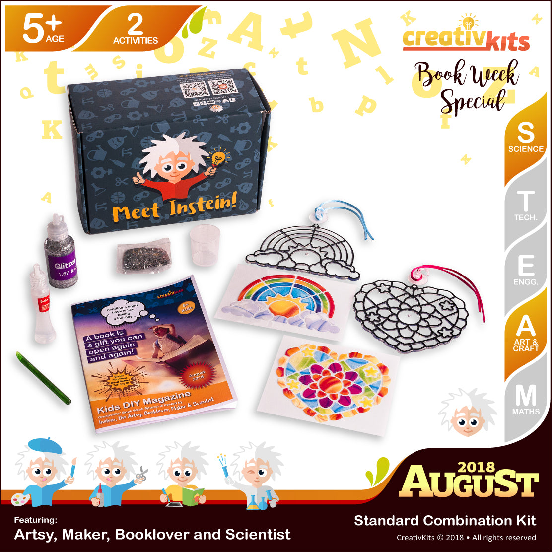 DIY Holographic Slime and DIY Dream Glass Sun-catchers | August Art and Science Combo Kit | Age 5+
