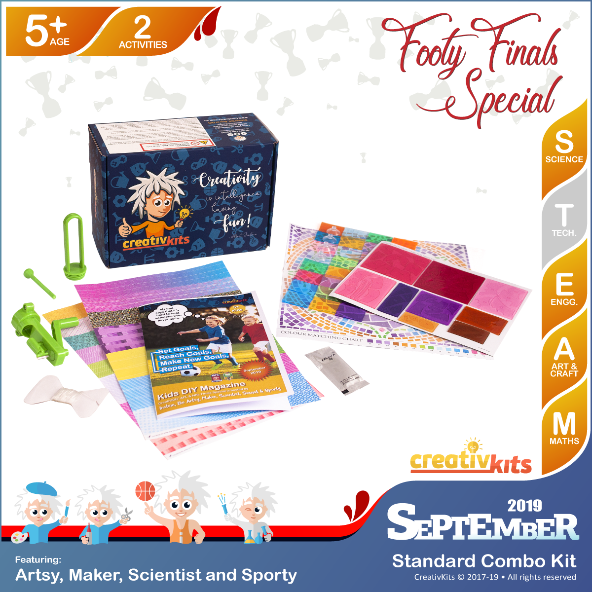 September Standard Combo Kit • Age 5 plus • Recycled Paper Beads and DIY Artistic Window Mosaic