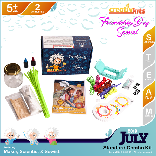 July Standard Combo Kit • Age 5 plus • MYO Friendship Bracelets and MYO Crystal Snowflakes