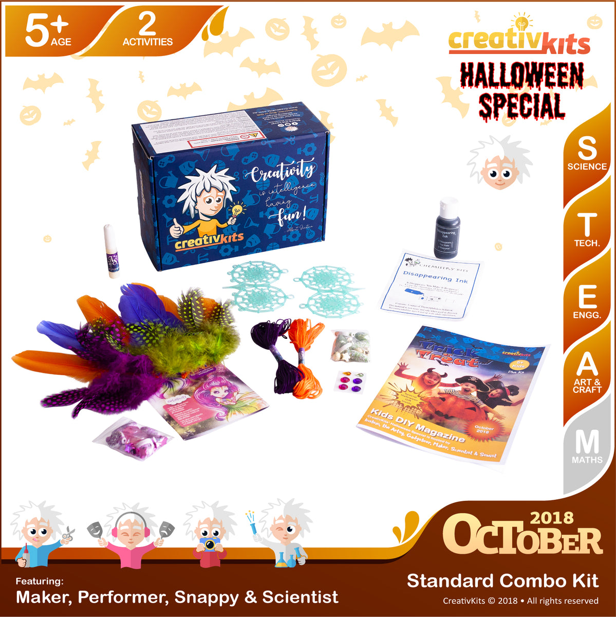 Build your Dreamcatcher and Spy using Disappearing Ink | October Standard Combo Kit | Age 5+
