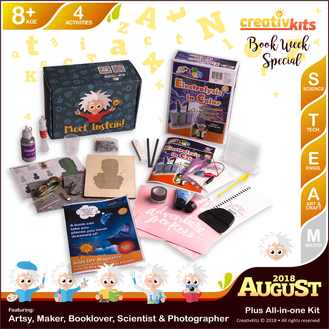 Holographic Slime, Screen Printing, Electrolysis and DIY Key Holder | August Plus Kit | Age 8+