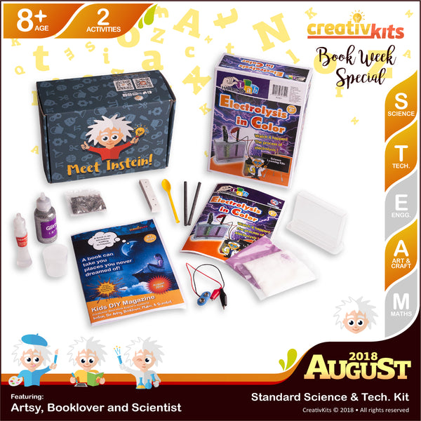 DIY Holographic Slime and DIY Electrolysis in Colour | August Standard Science & Tech. Kit | Age 8+