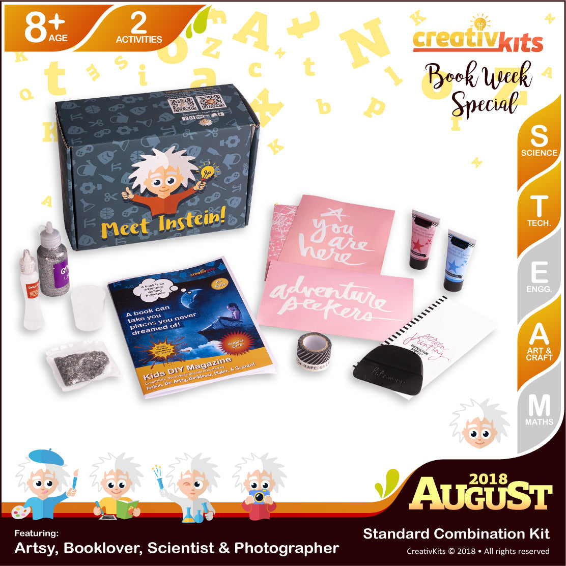 DIY Holographic Slime and DIY Screen Printing Art | August Standard Art & Science Combo Kit | Age 8+