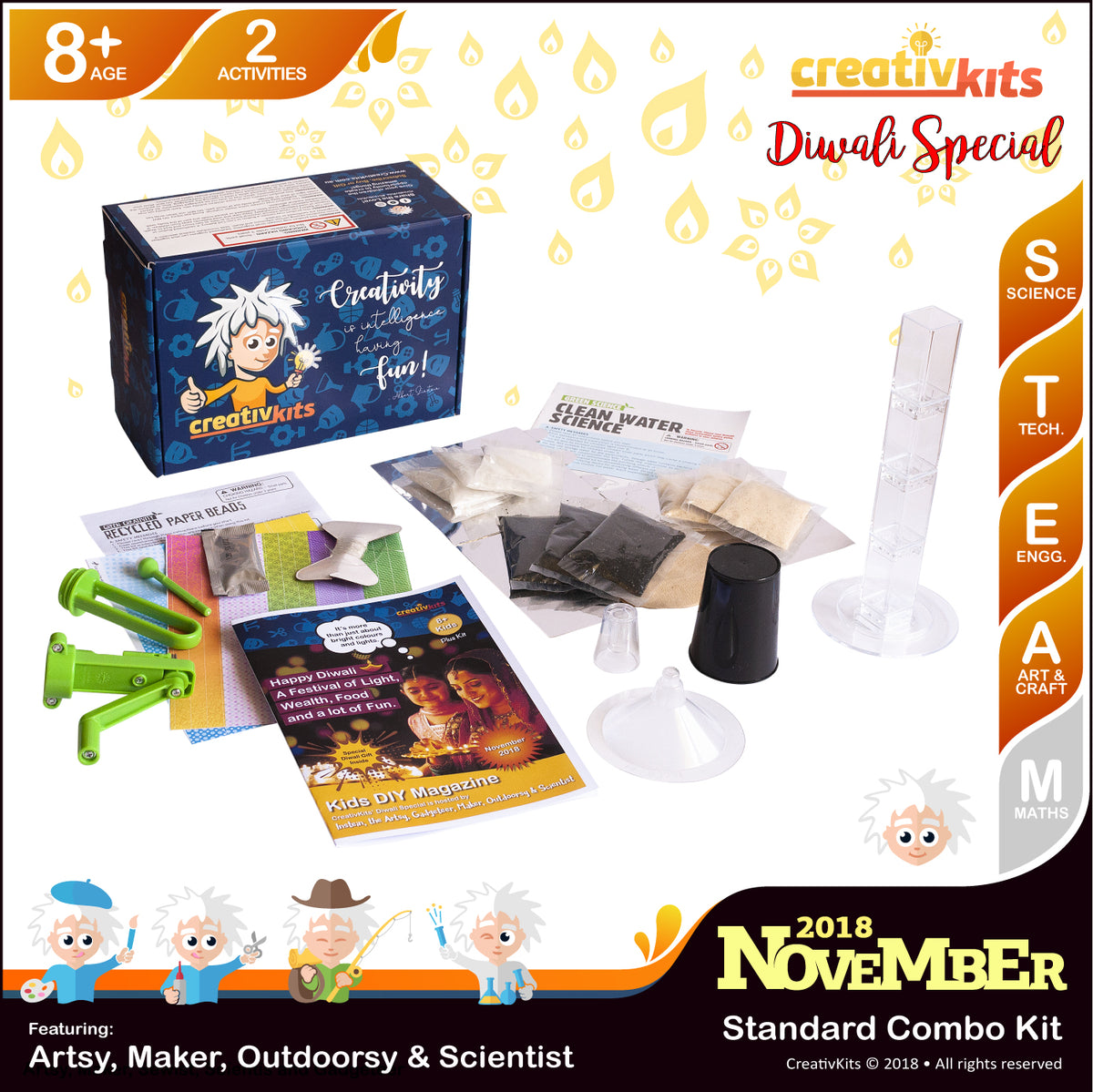 November Standard Combination Kit • Age 8 plus • DIY Recycled Paper Beads and Water Filtration