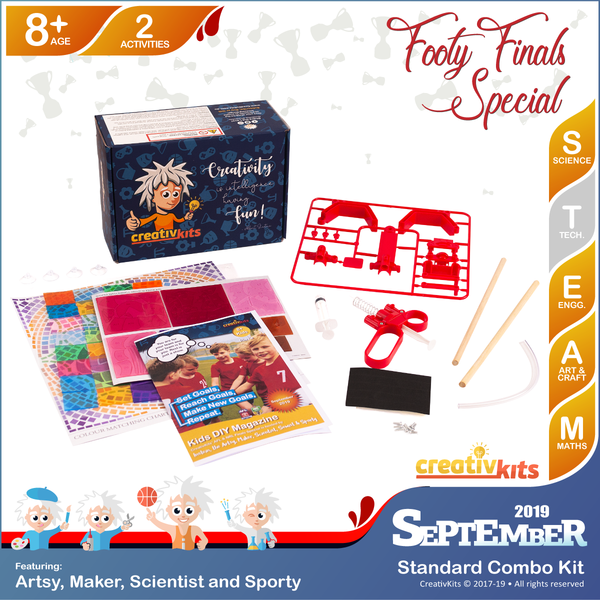 September Standard Combo Kit • Age 8 plus • BYO Hydraulic Arm & DIY Artistic Window Mosaic
