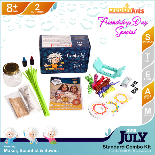 July Standard Combo Kit • Age 8 plus • MYO Friendship Bracelets and MYO Crystal Snowflakes